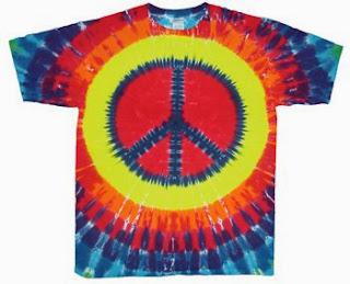 peace symbol on shirt