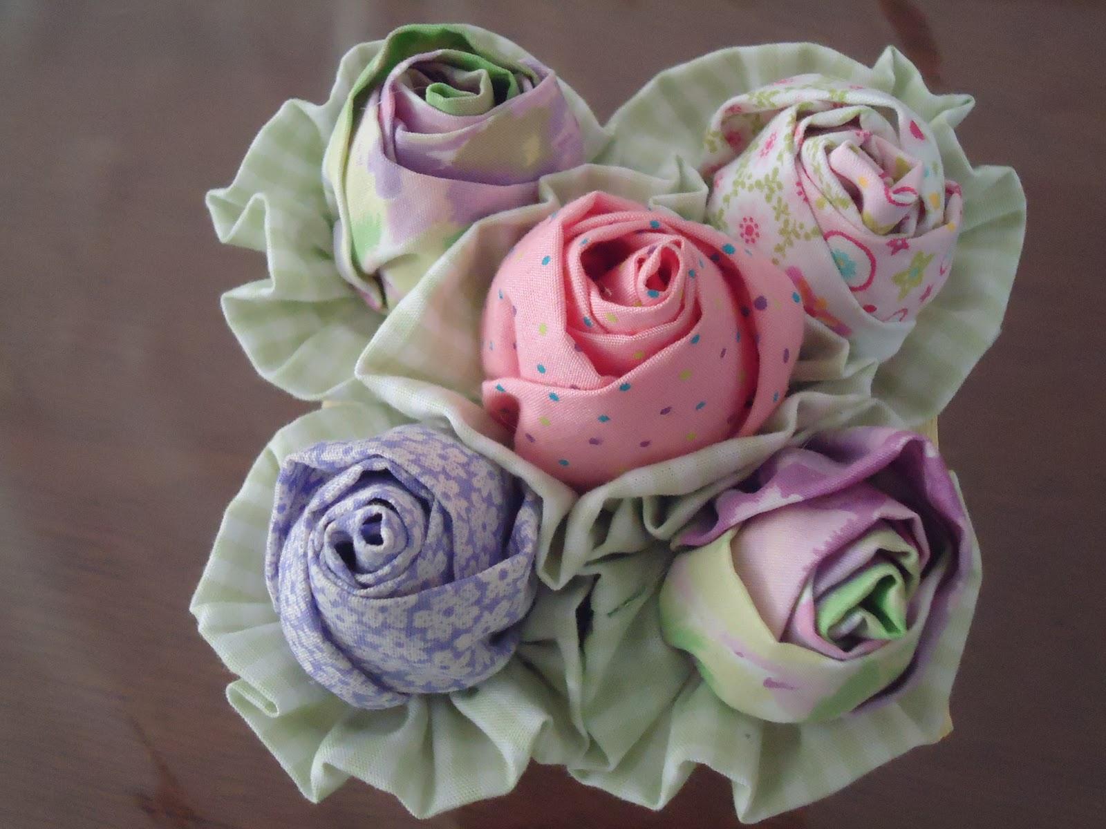 Цветы из ткани своими руками