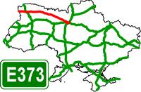 Motorway Е-373 Ukraine