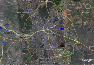 Карта Харькова Украина Google Earth Ukraine