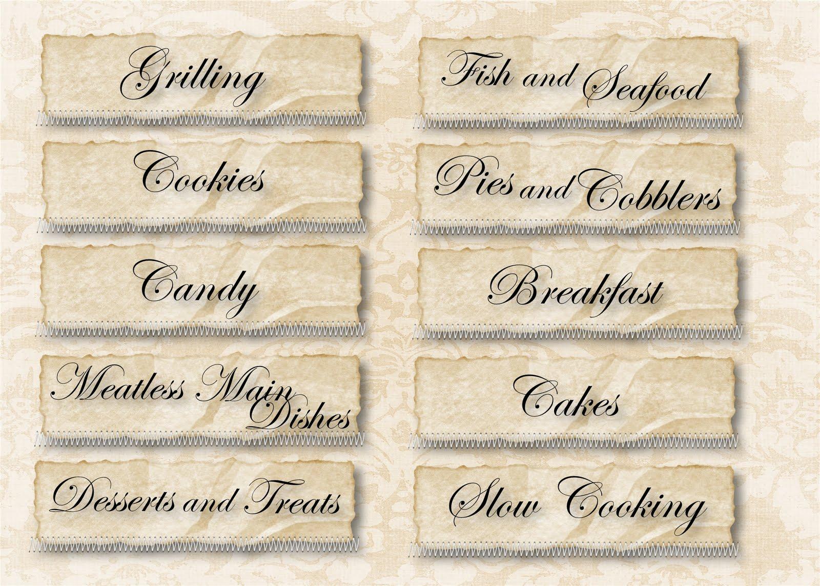 Recipes Boxes Cards Recipe Card Dividers Tab Box