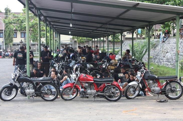 Rombongan Bikers dari berbangai daerah ikut meramaiakan acara