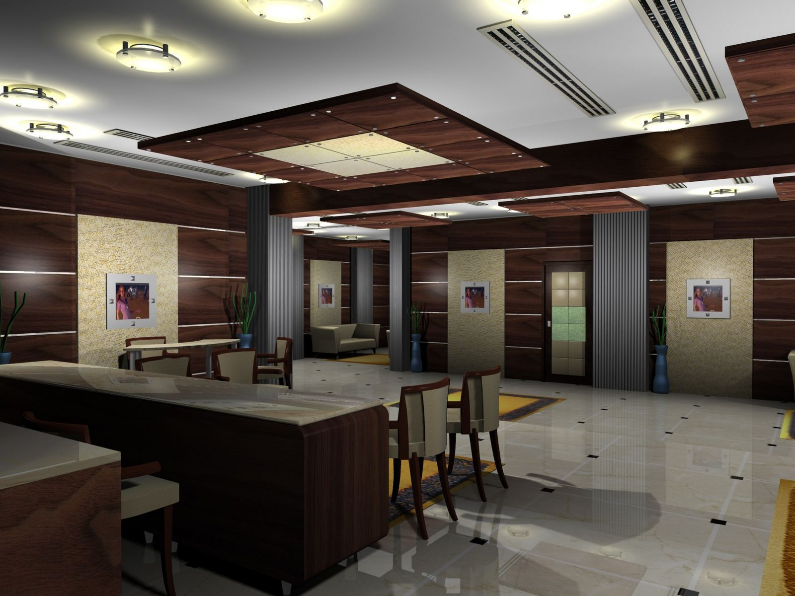 Home lobby design 28 images small lobby houzz lobby for Small hotel interior design