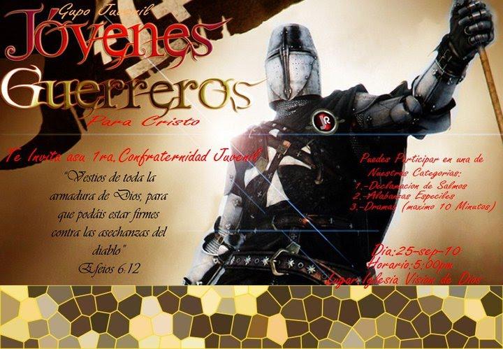 jovenes guerreros para cristo 2010