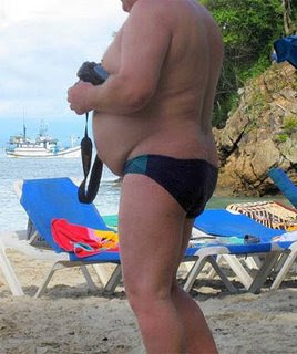 smokin fat guy in a speedo