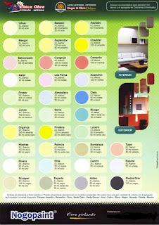 carta de colores para latex nogopaint