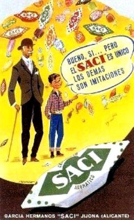 Anuncios. 1960 Caramelos Saci
