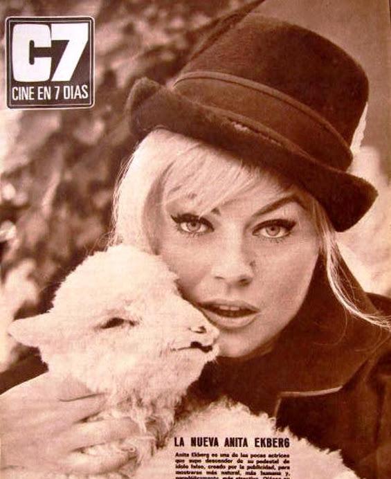Revista cine en7 días. Anita Ekberg
