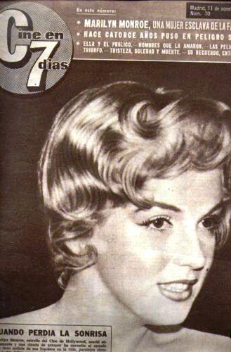 MARILYN MONROE - CINE EN 7 DIAS - NUMERO 70 - 11-8-1962
