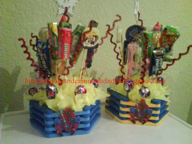 Mi cuarto de manualidades esther centros de mesa for Cuartos decorados hombre arana