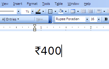 download rupee font for ms 2007