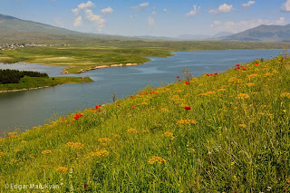Landscapes from Aparan Reservoir, Aratags
