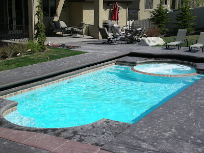 Blue Water Pools And Spa Caesars Palace Fiberglass Pool In Daper Utah