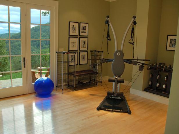 Exercise Room Flooring : Home gym flooring wood