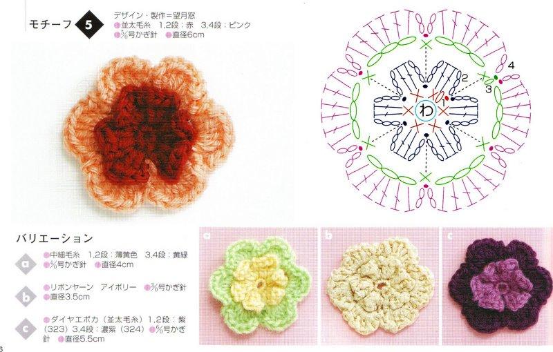 Modele de flori crosetate