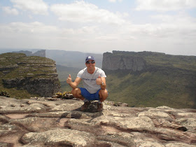 No topo do Morro do Pai Inácio