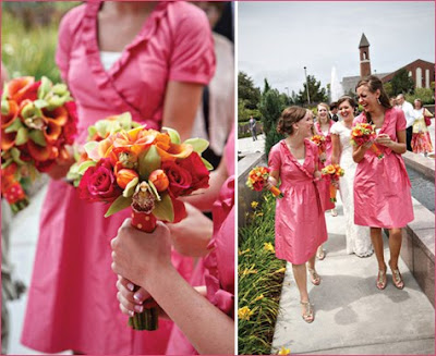 Simply inspired designs pink and orange wedding for Pink and orange wedding dresses