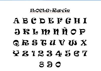 modelos de letras blueprint
