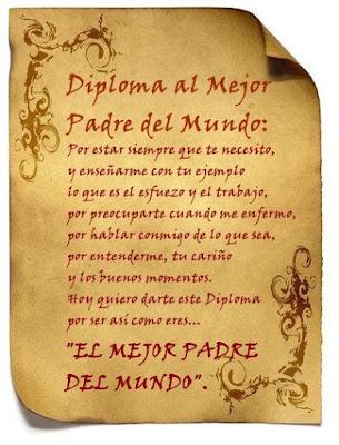 Tarjetas ¡Feliz Día Papá!, para imprimir, con una frase para ...