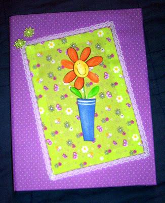 Carpeta decorada con telas recrear manualidades arte - Telas para decorar ...