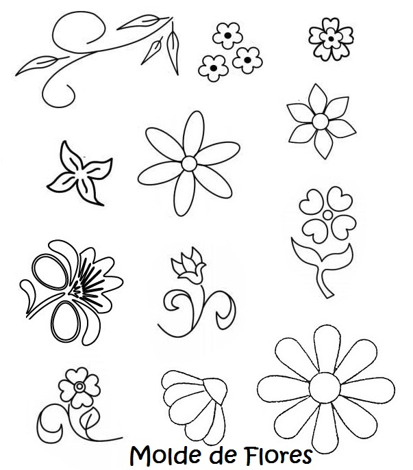 Moldes Para Flores De Fomi