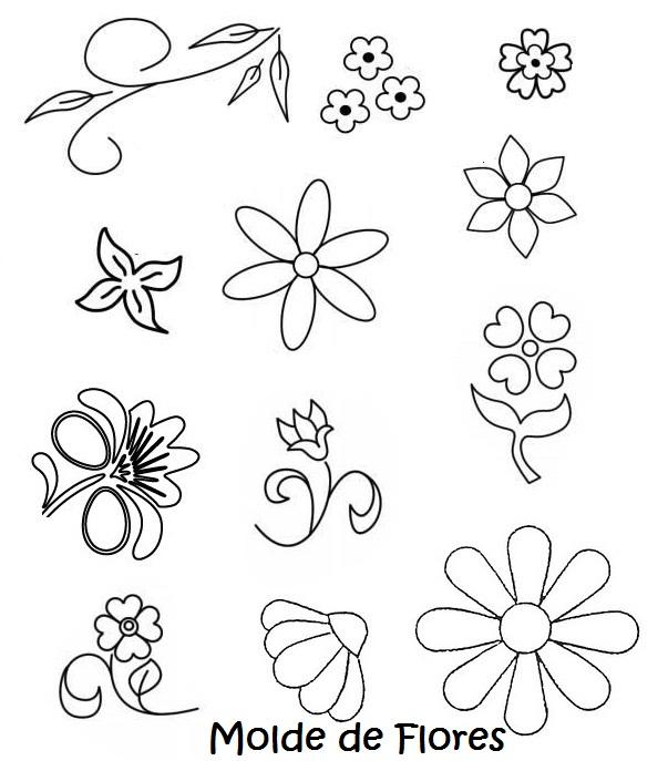 Moldes De Flores Con Mariposas Para Imprimir