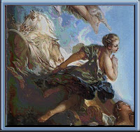 (modified) section from The Rising of the Sun by Francois Boucher.