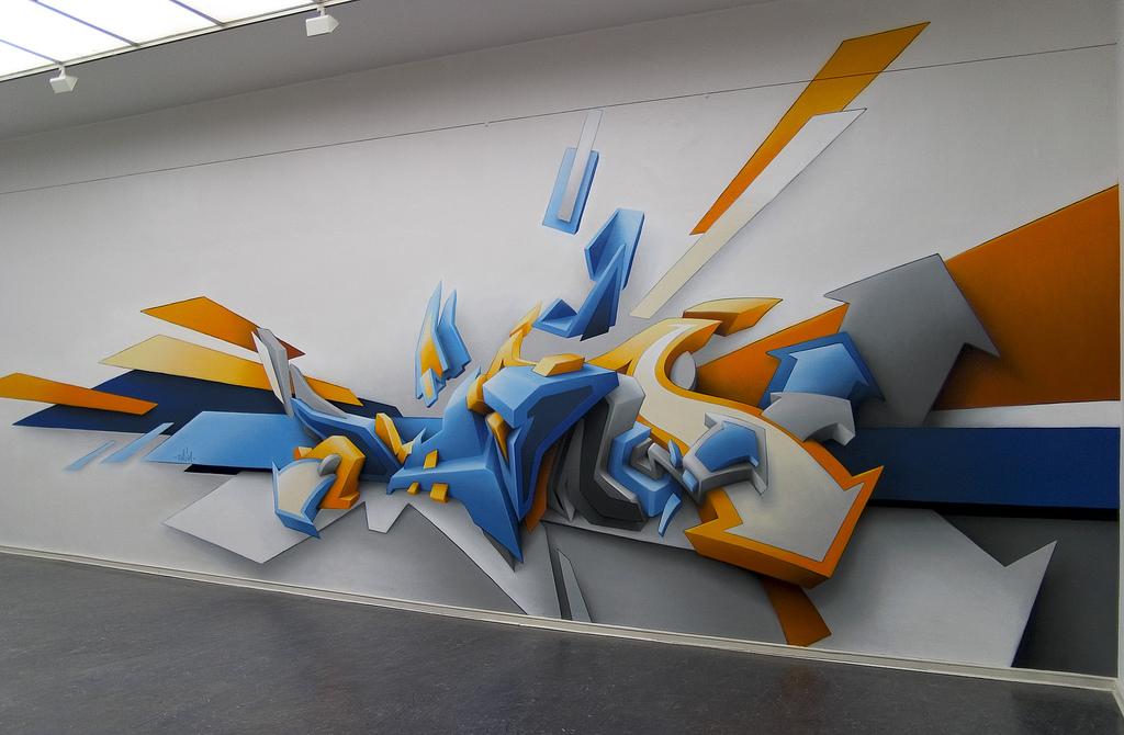 3D Graffiti Art Style