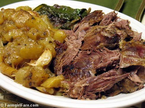 Farmgirl Fare: Recipe: Slow Roasted Greek Style Leg of Lamb with Lemon ...