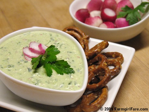 Refreshing Radish, Scallion, and Feta Cream Cheese Dip or Spread