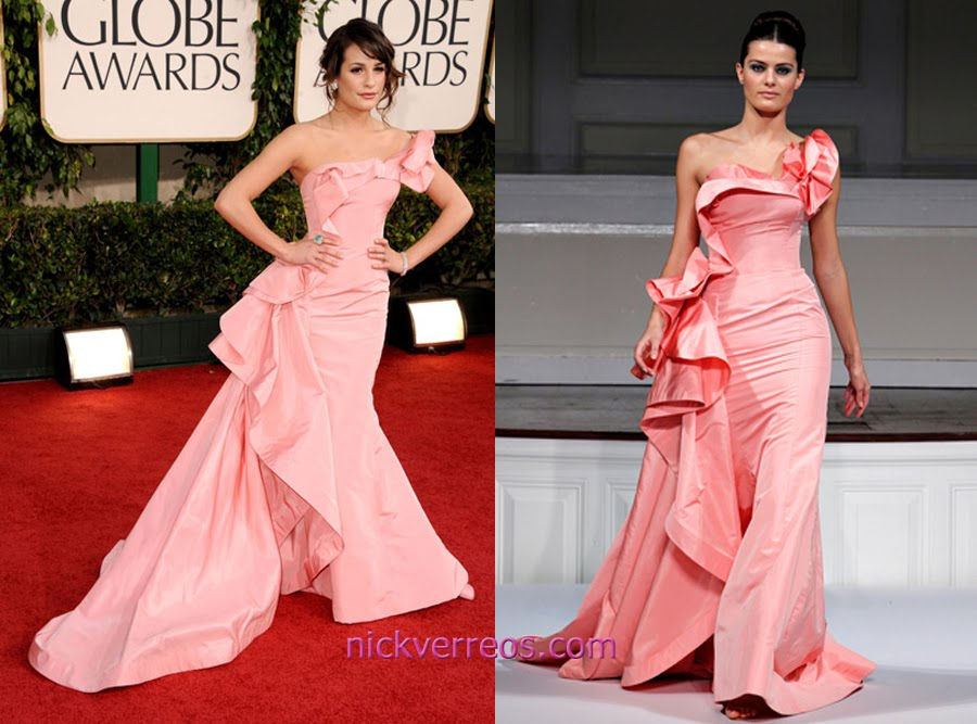 WHO WORE WHAT?.....68th Annual Golden Globes: Lea Michele in Oscar ...