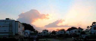 Photo of the sun coming up over Rockport 35 RV Park