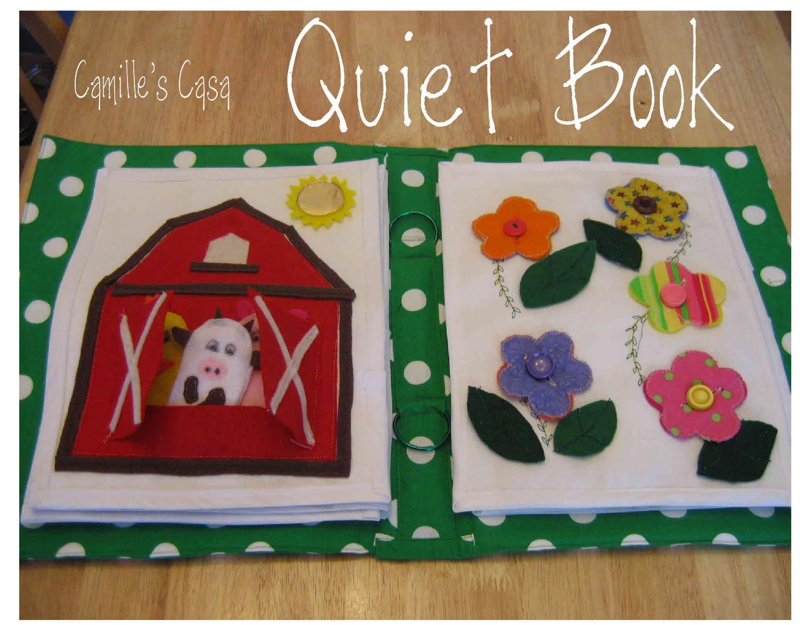 Quiet Book Cover Template : Camille s casa quiet book revealed