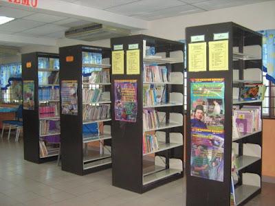 Keadaan di dalam perpustakaan sekolah (tempat promosi)