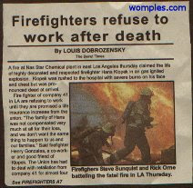 funny weird news headline fiirefighters refuse to work when dead