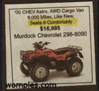 funny news advertisements jeep for sale too small for 8 people