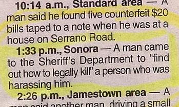 funny police stories how to commit a legal murder news