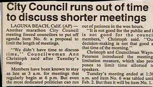 funny headlines news stories council runs out of time to discuss shorter meetings classic story