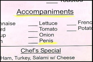 really bad penis mistake on restaurant menu funny photo