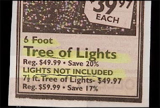 funny christmas tree of lights for sale minus the lights not included photo