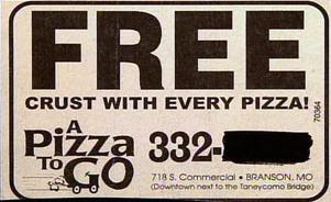 weird ad for free pizza crust funny photo news