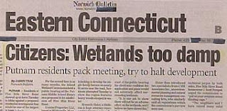 funny headlines about wetlands being too damp putnam residents object