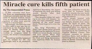 funny headline news photos miracle cure kills fifth patient