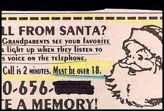 funny ad for santa phone call but must be over 18 to listen