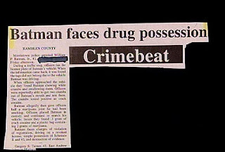 funny news headline batman caught with drugs to be charged with possession