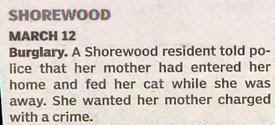 funny police story mad daughter wants mother charged with crime for feeding cat while away