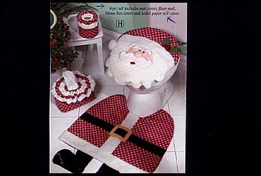 does santa use the toilet Decoração de Natal: Como decorar o lavabo ou banheiro.