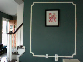 How the first wall with faux moulding turned out!