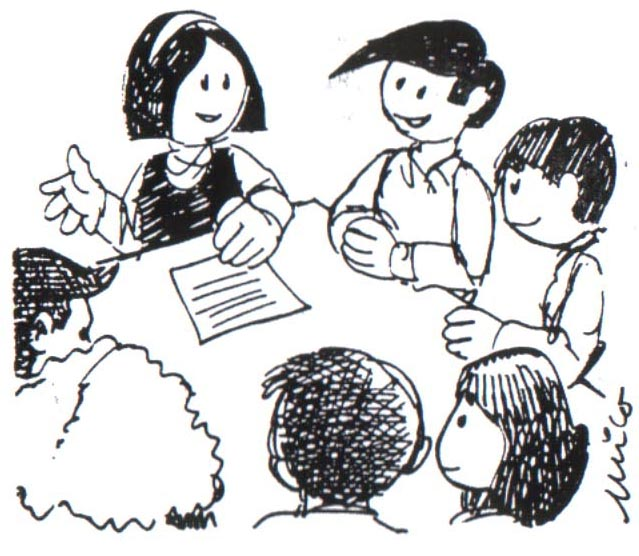 Dos personas dialogando caricatura - Imagui