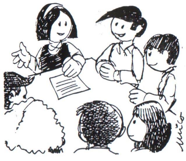 Niños hablando en clase para colorear - Imagui